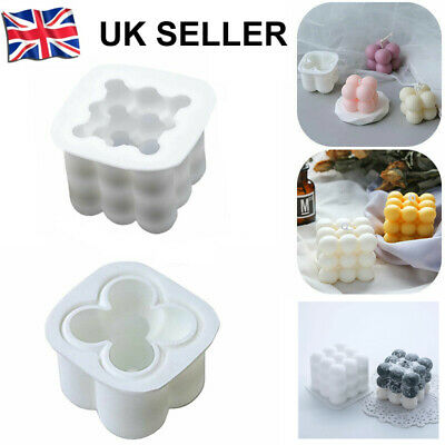 3D Silicone Candle Moulds DIY Soy Soap Aromatherapy Candles Wax Plaster Mold • 5.69£