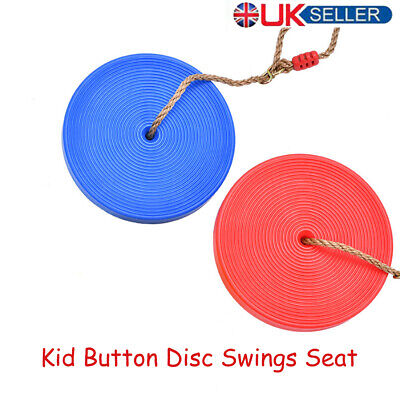 Kid Children Climbing Rope Tree Swing With Disc Swings Seat Outdoor Playground • 6.99£