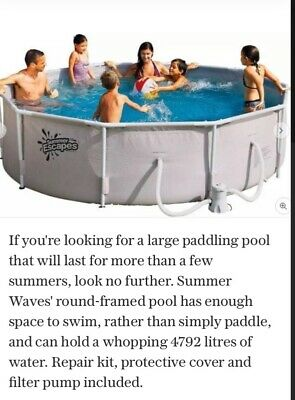 Summer Waves 10ft Round Frame Family Pool - Used Once Over The Summer • 40£
