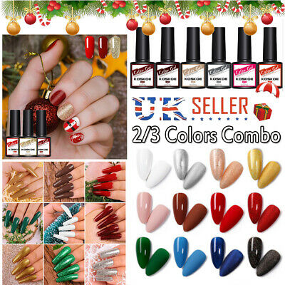 KOSKOE Christmas Series  Nail Art Varnish 2/3PCS Gift Set Manicure UV Gel Polish • 4.99£