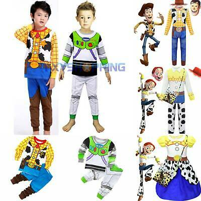 £9.69 • Buy Baby Boys Cosplay Toys Story Costume Buzz Woody Travis Fancy Dress Outfits Sets