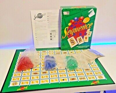 Vintage Sequence Board Game Parker Bros Card Strategy Game 1997 Complete • 6.75£