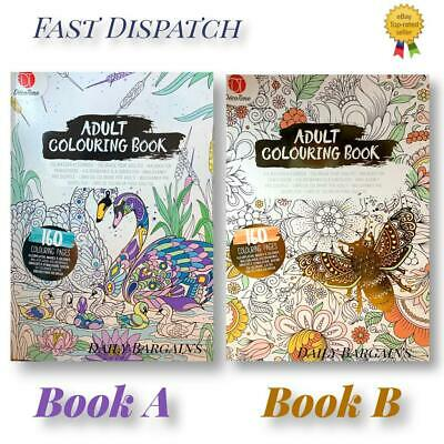 £6.99 • Buy A4 Adult Colouring Books Colour Therapy Patterns Anti-Stress  Books 160 Pages