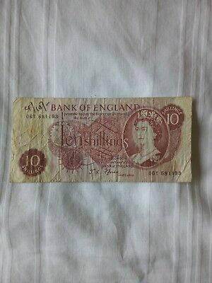 Bank Of England Ten Shilling Note Used • 4.99£