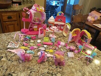 My Little Pony Lot Movie Theater Sweet Shoppe Gumball Accessories 3 Ponies • 10.85£