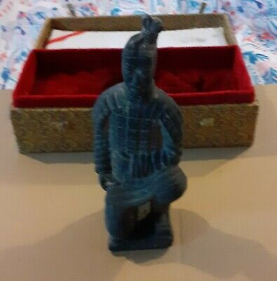 Boxed Stone Statue Of Kneeling Japanese Soldier • 4.99£