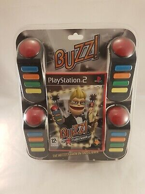 BNIB - PS2 Buzz! The Hollywood Quiz With 4 Buzzers PAL Brand New Factory Sealed • 38.95£