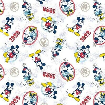 Disney Fabric - Retro Mickey & Minnie Mouse Ideal Couple Toss  - Springs YARD • 7.91£