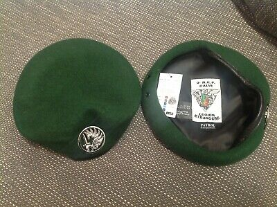 £18 • Buy French Foreign Legion Beret With Badge 2e R.E.P.  Paratroopers, Army