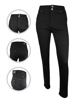 Womens Simply Be High Waist Shape STRAIGHT Jeans Black Plus Size 10 To 30 • 14.97£