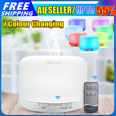 AU4.99 • Buy 500ml Ultrasonic Essential Oil Aroma Diffuser Remote Air Lamp Humidifier Light