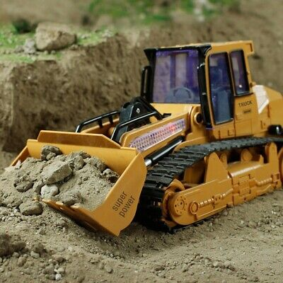 RC Bulldozer Kids Excavator Construction Digger Vehicle Truck Remote Control Toy • 44.99£