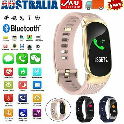 AU28.96 • Buy Waterproof Smart Watch Heart Blood Pressure Rate Fitness For IPhone Android