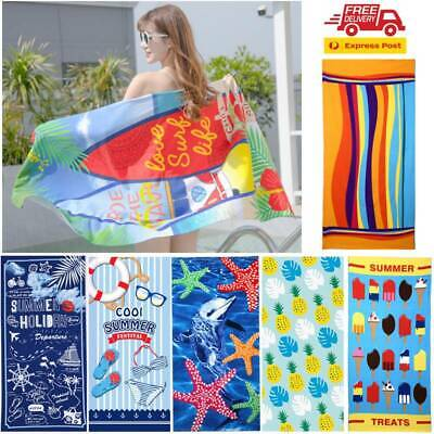 AU18.99 • Buy Adults Ex Large Microfibre Sand Free Beach Towel Quick Dry Travel BPCh For Women