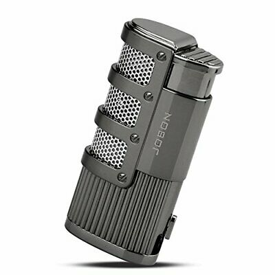 TOPKAY Cigar Lighter Triple Jet Flame Torch Lighter With Cigar Punch Cutter • 16.79£