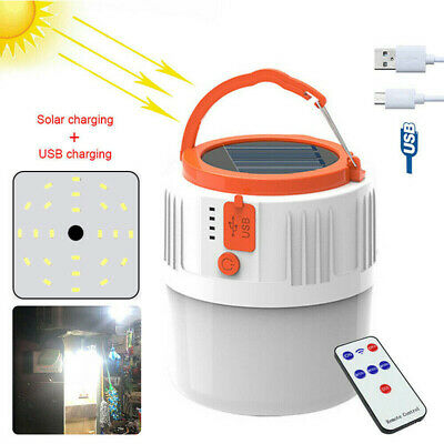 AU26.15 • Buy Solar Power Camping Hiking Lamp LED Torch Rechargeable Tent Light Outdoor New