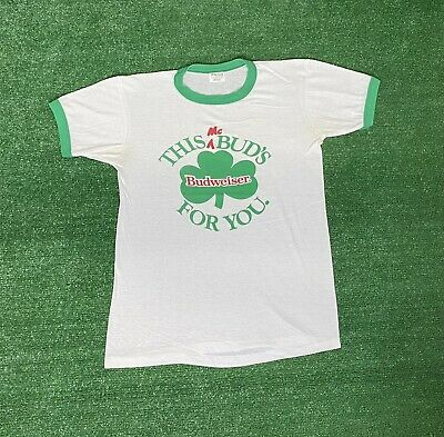$ CDN46.96 • Buy Vintage Budweiser Beer Ringer T Shirt Size M This Bud's For You