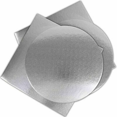 £2.39 • Buy Large Silver Cake Boards Round & Square 10  Extra Strong Base Wedding Party 25cm