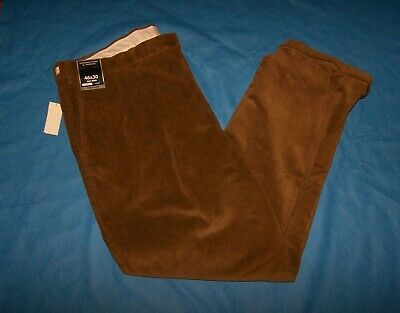 $26.99 • Buy Size 46x30 Mens Classic Fit Pleated Roundtree Yorke Corduroy Pants (Beige)