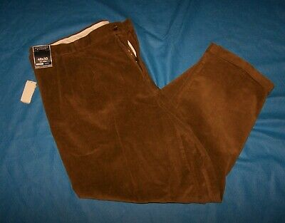 $26.99 • Buy Size 48x30 Mens Classic Fit Pleated Roundtree Yorke Corduroy Pants (Beige)