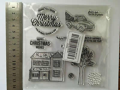 Christmas Home SceneTransparent Clear Silicone Scrapbooking Craft Stamps • 4.50£