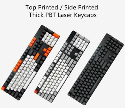 ANSI Layout PBT 104 Keycaps Set OEM Profile Thick For MX Mechanical Keyboard • 14.21£