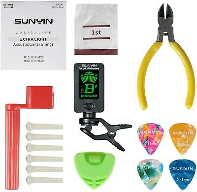 AU28.04 • Buy SUNYIN Acoustic Guitar Tool Kit For Beginner With Strings Ordinary