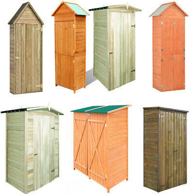 Wooden Garden Tool Shed With Door Storage Cupboard Lawn Mower Wood Cabinet • 181.61£