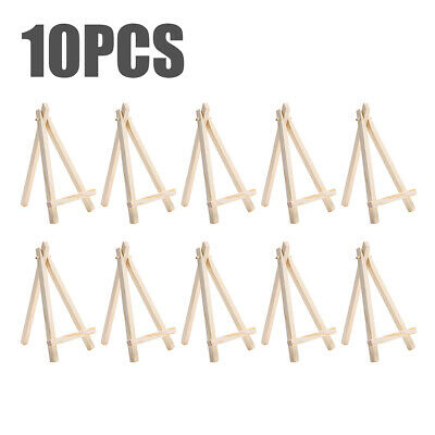 10Pcs Mini Wooden Art Easel Triangle Wedding Table Card Stand Display Holder • 4.95£