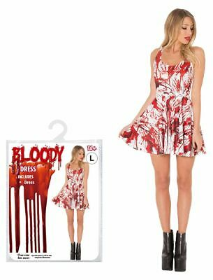 £9.74 • Buy Halloween One Size Fancy Dress Costume Bloody Zombie Bride Ladies Scary Party