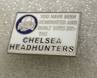 Very Rare Chelsea Supporter Enamel Badge Head Hunter Hooligan Firm Calling Card • 4.99£