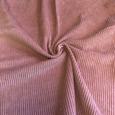 £4.99 • Buy WASHED Jumbo Cord 4.5 Wale Cotton Velvet Fabric Material DUSTY PINK
