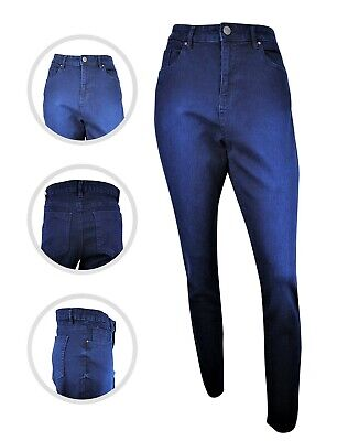 Womens Simply Be Lucy High Waist Denim Skinny Jeans Indigo Plus Size 16 To 24 • 12.97£
