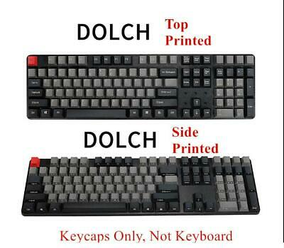 104 Keys Dolch Carbon Chalk Style PBT Keycap OEM Keycaps For Mechanical Keyboard • 16.10£