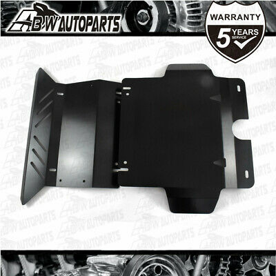 AU140 • Buy Steel Bash Plate 3mm Black 2pc Fit For Toyota Hilux N70 SR SR5 2005 - 2015