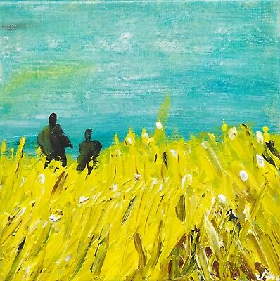 Fields Of Gold Painting Framed Print. Beautiful Direct From Artist, Limited Edit • 22£