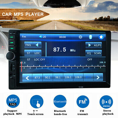 AU49.98 • Buy 7'' 2 Din MP5 Radio Player Double Car Stereo Head Unit LCD Touch Screen AU