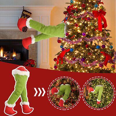 £9.99 • Buy Plush Toy Doll How The Grinch Stole Christmas Legs Xmas Tree Wreath Decoration