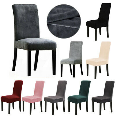 £6.19 • Buy Stretch Dining Chair Covers Velvet Slipcover Wedding Banquet Home Seat Cover