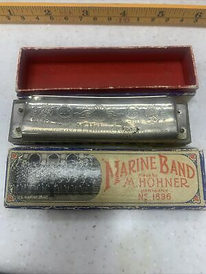 $16.99 • Buy M. Hohner Marine Band Harmonica No. 1896 A440 Key Of G Made In Germany W/ Box