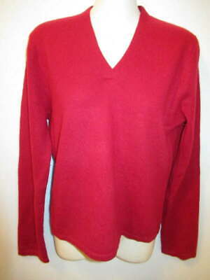 $12.95 • Buy Philosophy Dane Lewis 100% Cashmere Red V-neck Sweater M May Fit Small