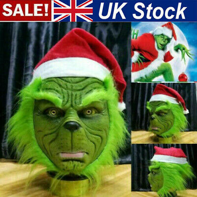 £17.99 • Buy Xmas The Grinch Mask Glove Cosplay Costume Christmas Prop How The Grinch Stole