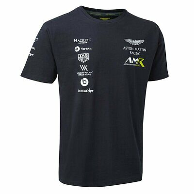 Aston Martin Racing Mens Team T-Shirt - Navy - Official AMR Merchandise UK STOCK • 19£