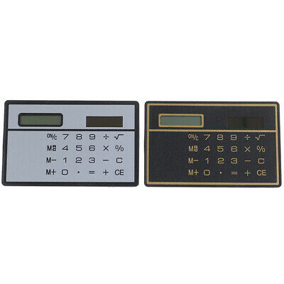 Mini Calculator Credit Card Size Stealth School Cheating Pocket Size 8 Digit PZ • 4.42£
