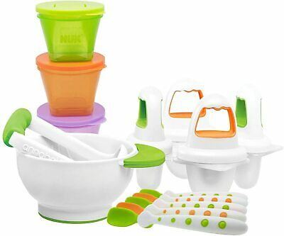 £25.37 • Buy NUK Baby Weaning First Foods Starter Set With 5 Spoons, 4 Ice Lolly Moulds,