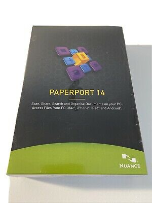 PAPERPORT 14 NUANCE PDF Editor IMac IPhone IPad Pc Android Compatible New • 29.99£