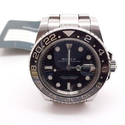 $ CDN13787.35 • Buy Rolex GMT Master II  Steel Automatic 40mm Black Watch 116710 Service Papers 2010