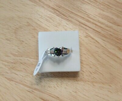 Ladies Womens Size 9 R 925 Silver Purple Heart Mystic Topaz Ring Band  • 6.99£