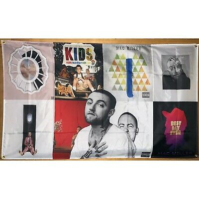 $19.99 • Buy Mac Miller Album Cover Collage Flag Banner Wall Tapestry 3x5 Feet College Dorm