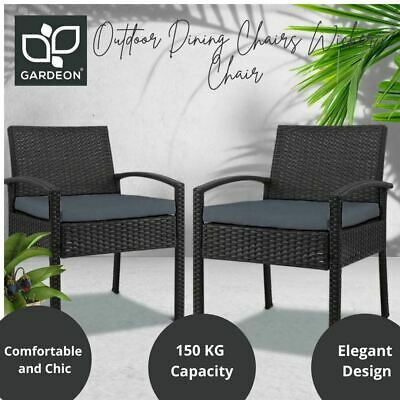 AU170.09 • Buy 2x Outdoor Dining Chairs Wicker Chair Patio Garden Furniture Lounge Setting AU